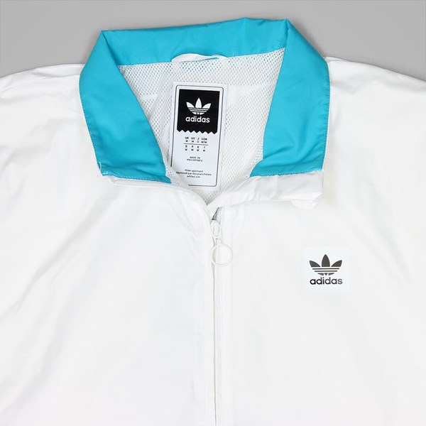 adidas originals mens courtside jacket white energy blue energy