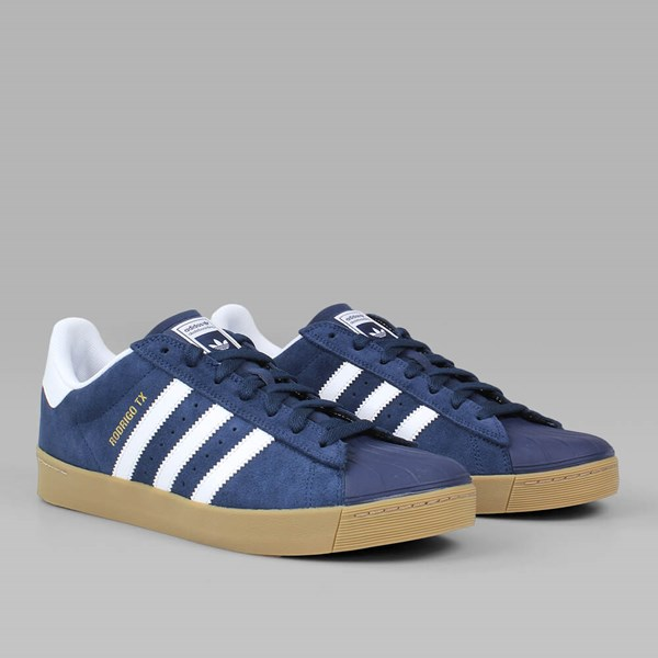 Adidas Superstar Vulc ADV Skate Shoes Collegiate Navy/White/Gum