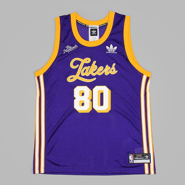 online retailer d499a 7ac87 ADIDAS X THE HUNDREDS X LA LAKERS JERSEY PURPLE ...
