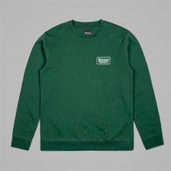 BRIXTON PALMER CREW NECK FLEECE CHIVE