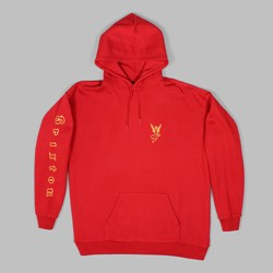 BRIXTON 'UNION' TEMPTRESS PO HOOD RED