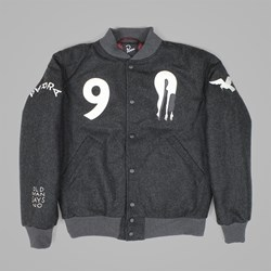 cheap for discount e303c 3ef56 BY PARRA ALL THAT WOOL VARSITY JACKET CHARCOAL   By Parra Jackets