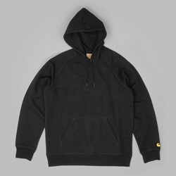 CARHARTT HOODED CHASE SWEAT BLACK GOLD