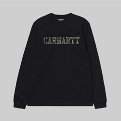 CARHARTT LS COLLAGE T-SHIRT BLACK CAMO LAUREL