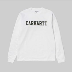CARHARTT COLLEGE LS T-SHIRT WHITE CAMO LAUREL