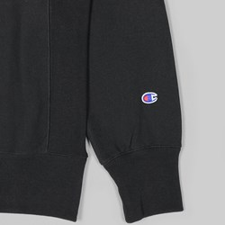 CHAMPION REVERSE WEAVE CHEST LOGO CREW BLACK
