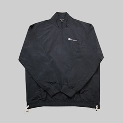 CHAMPION REVERSE WEAVE HALF ZIP TOP BLACK