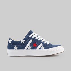CONVERSE ONE STAR ACADEMY OX NAVY ENAMEL RED WHITE