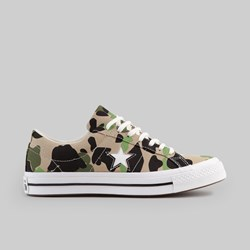 CONVERSE ONE STAR OX CANDIED GINGER PIQUANT GREEN