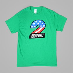 DEAR SKATING FLATSPOTS 2 SS T SHIRT GREEN
