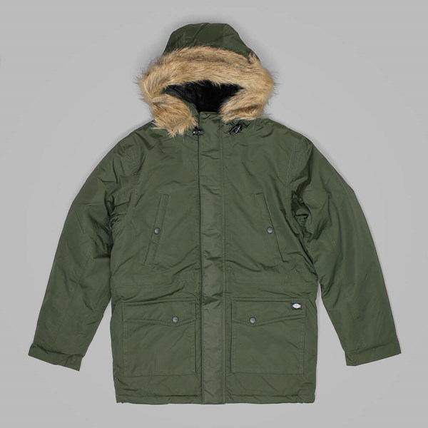 DICKIES CURTIS PARKA JACKET OLIVE GREEN