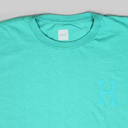 HUF OVER DYE CLASSIC H SS T-SHIRT BRIGHT AQUA