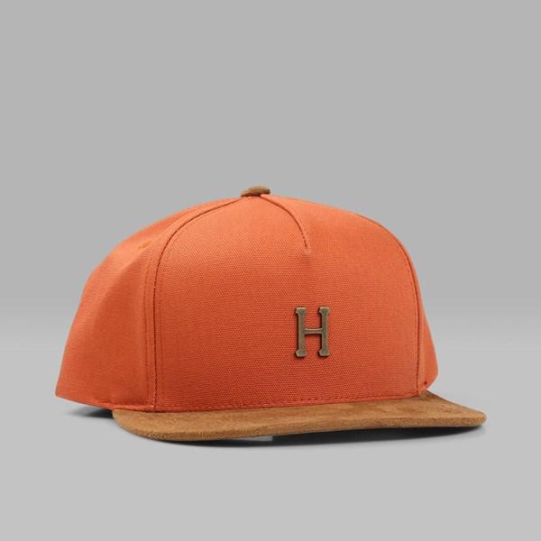 5e32accf6fb8e HUF SMALL METAL H SNAPBACK CAP RUST