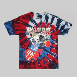 Hall of Fame Dunk Tie Dye T Shirt Red