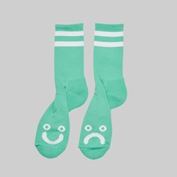 POLAR SKATE CO. HAPPY SAD SOCKS MINT
