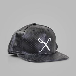 King Apparel Hard Graft Snapback Cap Black