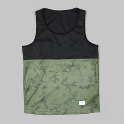 King Apparel Letterman Basketball Vest Black & Camo