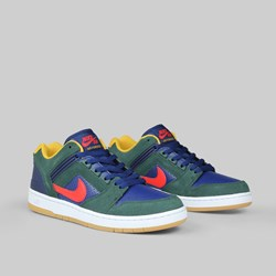 NIKE SB AIR FORCE II 'RIVALS PACK' MIDNIGHT GREEN RED
