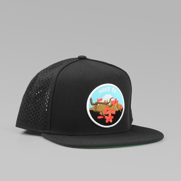 NIKE SB  CHERRY BLOSSOM  TRUCKER CAP BLACK  c9d8a7a104f