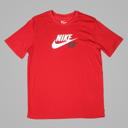 NIKE SB DRI FIT ICON LOGO TEE GYM RED BLACK