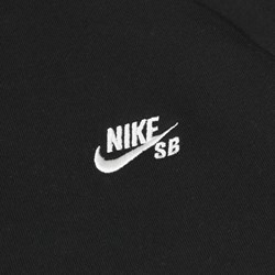 NIKE SB ICON CREW FLEECE BLACK WHITE
