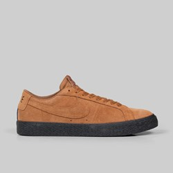 NIKE SB ZOOM BLAZER LOW LIGHT BRITISH TAN BLACK