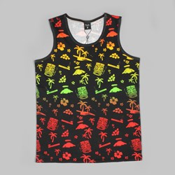 PRIMITIVE MAI TAI TANK TOP BLACK MULTI