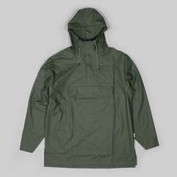 RAINS CAMP ANORAK JACKET GREEN