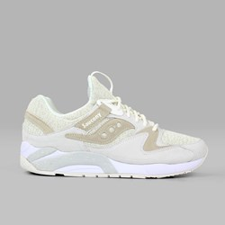 SAUCONY ORIGINALS GRID 9000 KNIT CREAM CREAM