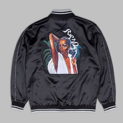 RIP N DIP SHARE SOME LOVE SATIN JACKET BLACK