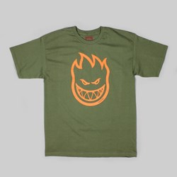SPITFIRE COVERT BIGHEAD T-SHIRT MILITARY GREEN