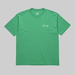 POLAR SKATE CO. STROKE LOGO TEE GREEN