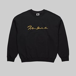 POLAR SKATE CO. SIGNATURE CREWNECK SWEAT BLACK