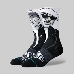 STANCE SOCKS X GANGSTARR 'PREMIER AND GURU' WHITE