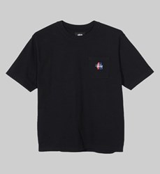 STUSSY 2 BAR STOCK CREW BLACK