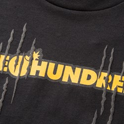THE HUNDREDS X GARFIELD SCRATCH SS TEE BLACK
