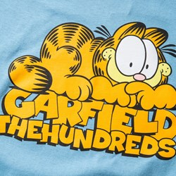 THE HUNDREDS X GARFIELD STACK SS TEE CAROLINA BLUE
