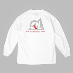 THE QUIET LIFE REFLECTIVE LS T SHIRT WHITE