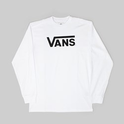 VANS CLASSIC LONG SLEEVE TEE WHITE BLACK