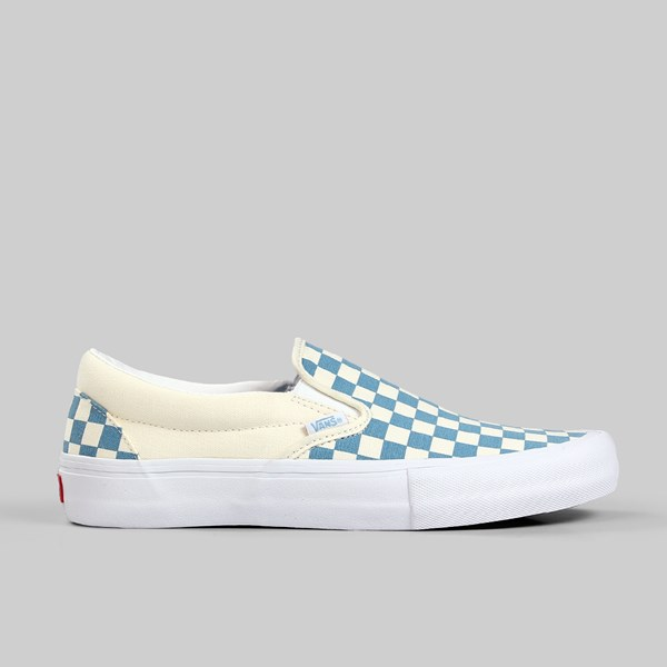 b300391468 VANS SLIP ON PRO CHECKERBOARD ADRIATIC BLUE WHITE ...