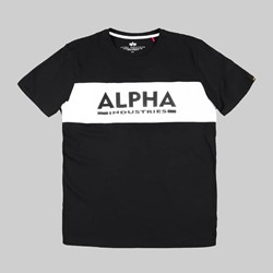 ALPHA INDUSTRIES INLAY SS T-SHIRT BLACK