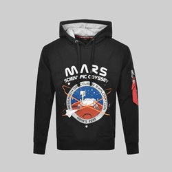 ALPHA INDUSTRIES MISSION TO MARS HOODY BLACK