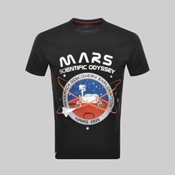 ALPHA INDUSTRIES MISSION TO MARS SS T-SHIRT BLACK