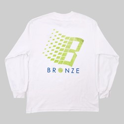 BRONZE 56K B LOGO LONG SLEEVE TEE WHITE TENNIS
