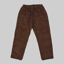 BRONZE 56K AO EMBROIDERED CORD PANT BROWN