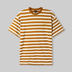 BUTTER GOODS HUME STRIPE T-SHIRT BROWN