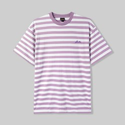 BUTTER GOODS HUME STRIPE T-SHIRT MAUVE