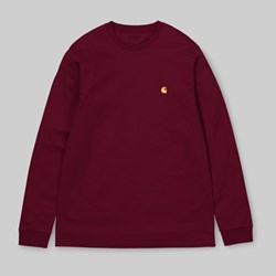 CARHARTT CHASE LONG SLEEVE TEE CRANBERRY GOLD