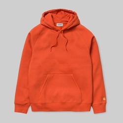 CARHARTT WIP HOODED CHASE SWEAT BRICK ORANGE