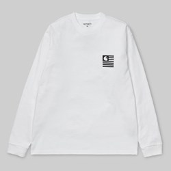 CARHARTT STATE PATCH LONG SLEEVE T-SHIRT WHITE